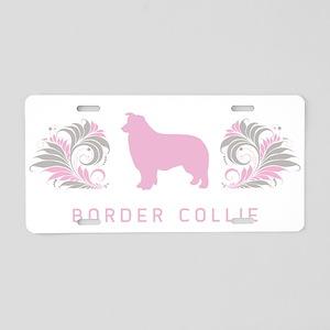 """""""Elegant"""" Border Collie Aluminum License Plate"""