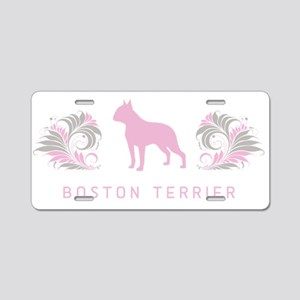 """Elegant"" Boston Terrier Aluminum License Plate"