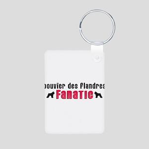 Bouvier des Flandres Fanatic Aluminum Photo Keycha