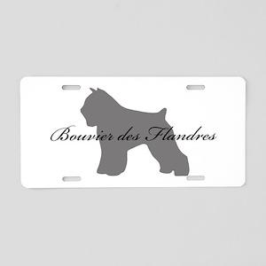 Bouvier des Flandres Aluminum License Plate