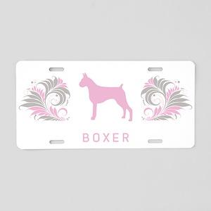 """""""Elegant"""" Boxer Aluminum License Plate"""