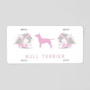 """""""Elegant"""" Bull Terrier Aluminum License Plate"""