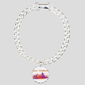"""""""City"""" Bull Terrier Charm Bracelet, One Charm"""