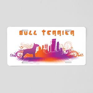 """""""City"""" Bull Terrier Aluminum License Plate"""