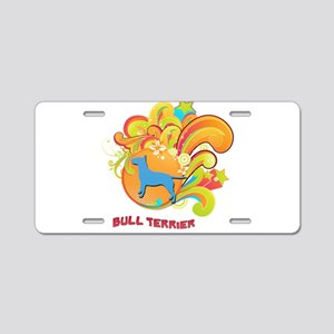 Groovy Bull Terrier Aluminum License Plate