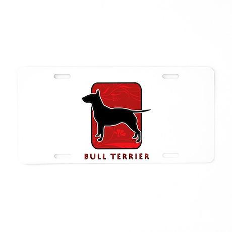 Bull Terrier Aluminum License Plate