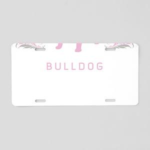 """Elegant"" Bulldog Aluminum License Plate"