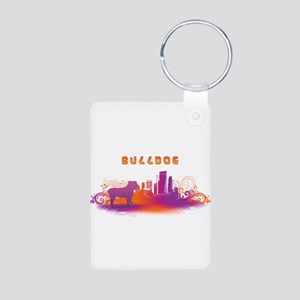 """City"" Bulldog Aluminum Photo Keychain"