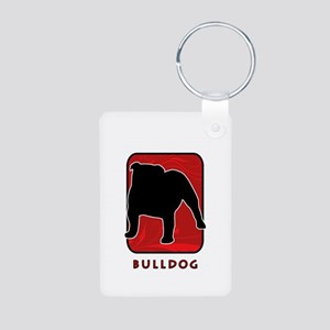 Bulldog Aluminum Photo Keychain