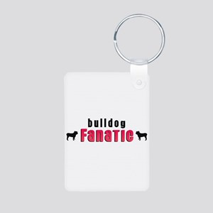 Bulldog Fanatic Aluminum Photo Keychain
