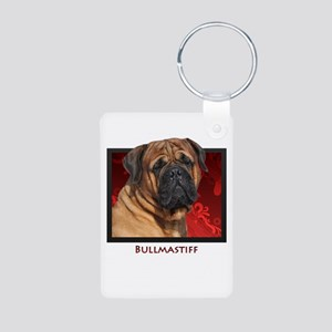 Bullmastiff Aluminum Photo Keychain