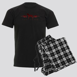 Cane Corso Flames Men's Dark Pajamas