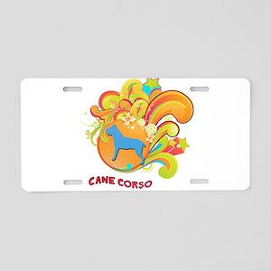 Groovy Cane Corso Aluminum License Plate