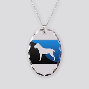 Cane Corso Necklace Oval Charm