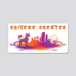 """""""City"""" Chinese Crested Aluminum License Plate"""