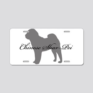 Chinese Shar Pei Aluminum License Plate