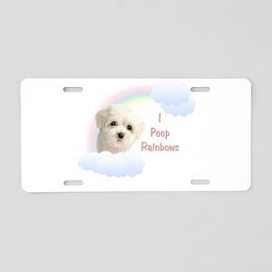 I Poop Rainbows Puppy Aluminum License Plate