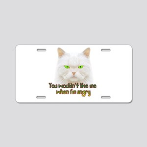Hulk Kitty Aluminum License Plate