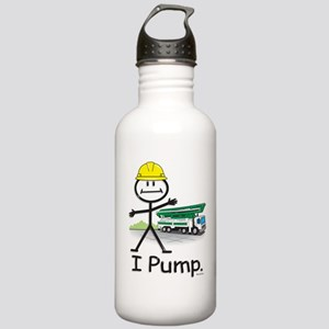 Concrete Pumping Stainless Water Bottle 1.0L