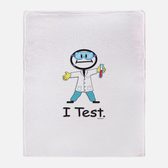 Medical Lab Tech Throw Blanket
