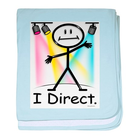 Theater Play Director baby blanket