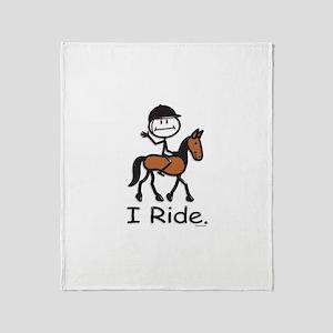 English Horse Riding Throw Blanket