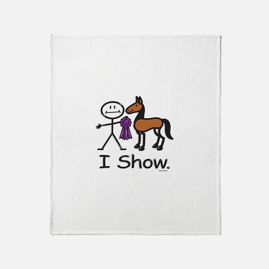 Horse Show Throw Blanket