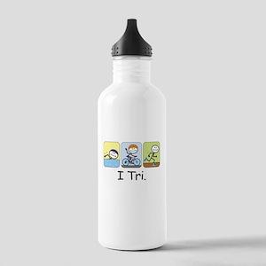 Triathlon Stick Figure Stainless Water Bottle 1.0L