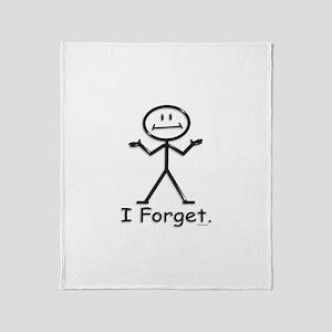 Forgetful Throw Blanket
