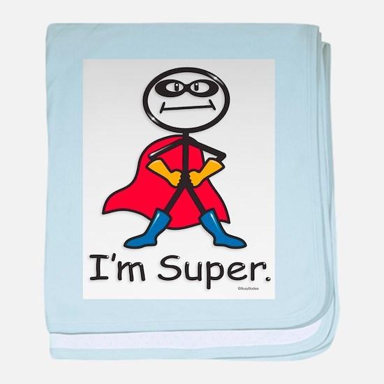 Super Hero baby blanket