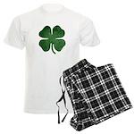 Grunge Shamrock Men's Light Pajamas
