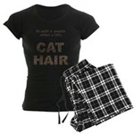 Cat Hair Women's Dark Pajamas