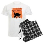 Halloween Black Cat Men's Light Pajamas