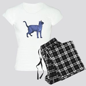 Russian Blue Cat Portrait Women's Light Pajamas