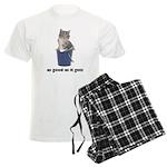 Tabby Cat Photo Men's Light Pajamas