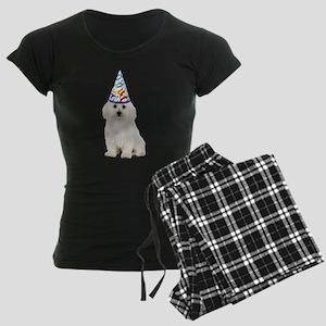Bichon Frise Party Women's Dark Pajamas