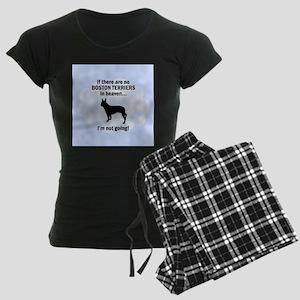 Boston Terriers In Heaven Women's Dark Pajamas