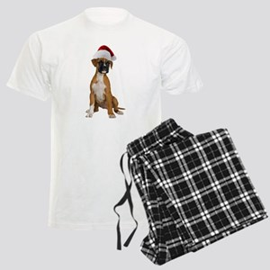 Santa Boxer Puppy Men's Light Pajamas