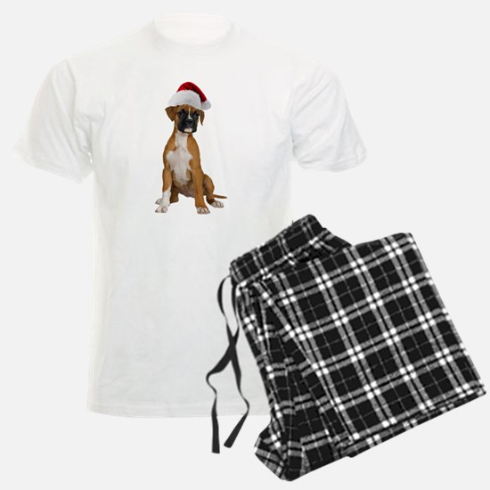 Santa Boxer Puppy Pajamas