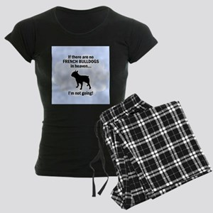 French Bulldogs In Heaven Women's Dark Pajamas