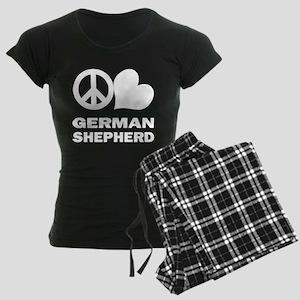 Peace Love German Shepherd Women's Dark Pajamas