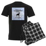 Italian Greyhounds In Heaven Men's Dark Pajamas