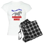 Ride With Pride Canadian Hors Women's Light Pajama