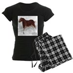 Horse Cave Painting Women's Dark Pajamas