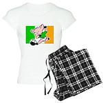 Ireland Soccer Pigs Women's Light Pajamas