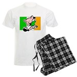 Ireland Soccer Pigs Men's Light Pajamas