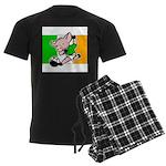 Ireland Soccer Pigs Men's Dark Pajamas