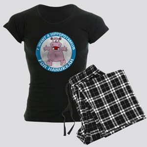 Hippopotamus For Hanukkah Women's Dark Pajamas