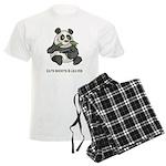 Panda Eats Shoots & Leaves Men's Light Pajamas