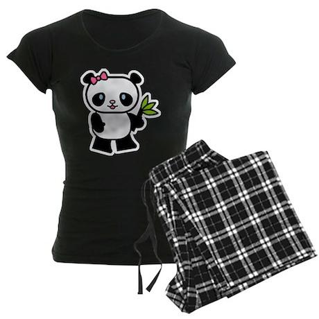 Cute Panda Women's Dark Pajamas